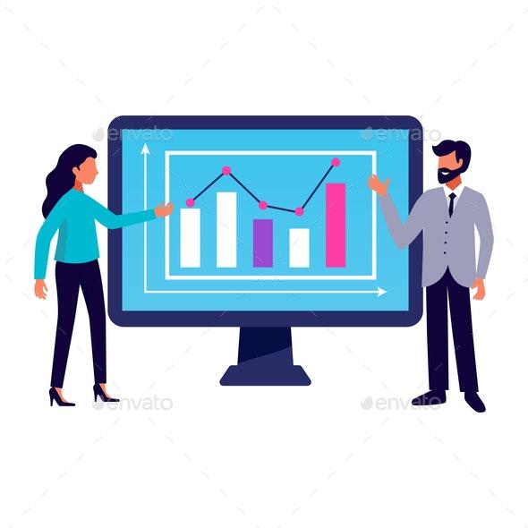 Computer Business Presentation Composition - Business Conceptual