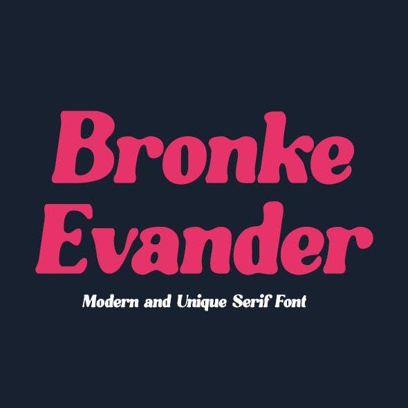 Bronke Evander Serif Font