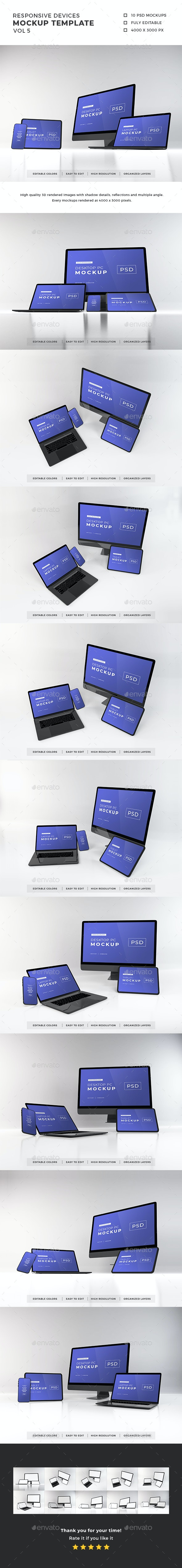 Responsive Devices Mockup Template Vol 5 - Multiple Displays