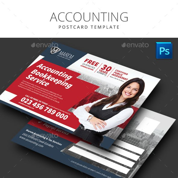 Accounting Service Postcard