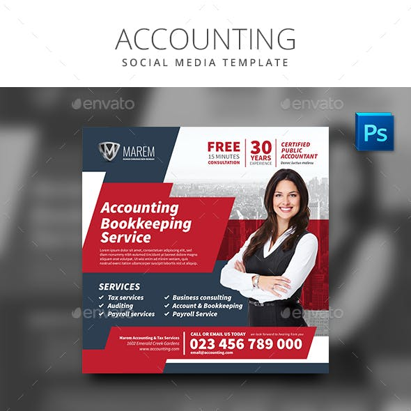 Accounting Service Social Media Template