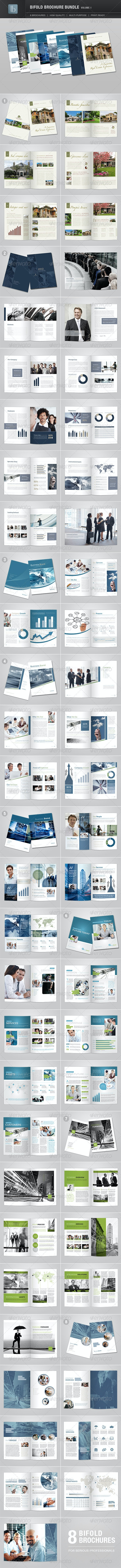 Bifold Brochure Bundle | Volume 1 - Brochures Print Templates