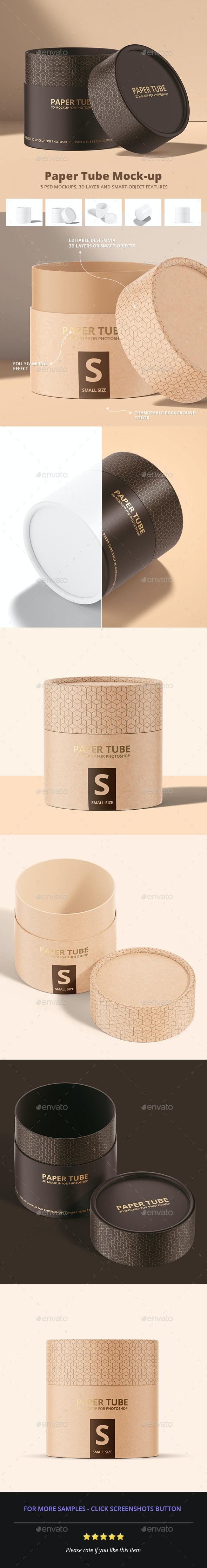 Paper Tube Mockup - Miscellaneous Packaging