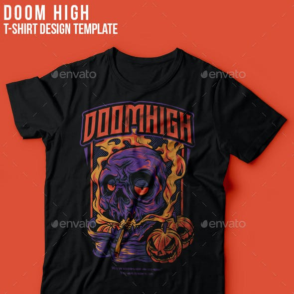 Doom High Halloween T-Shirt Design