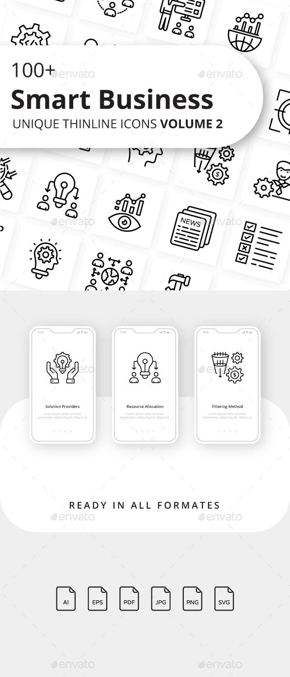 Smart Business Volume 2 Outline Icons - Business Icons