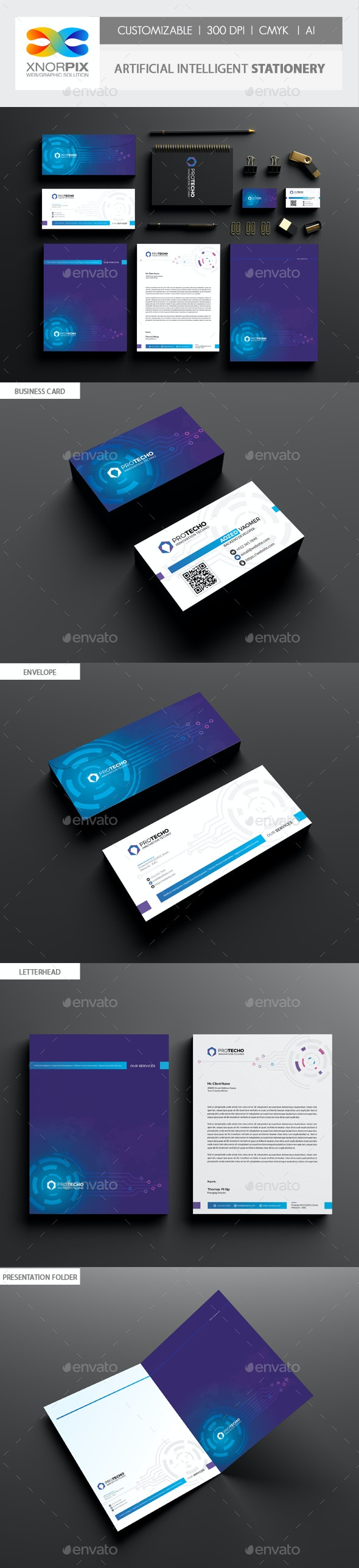Artificial Intelligent Stationery - Stationery Print Templates