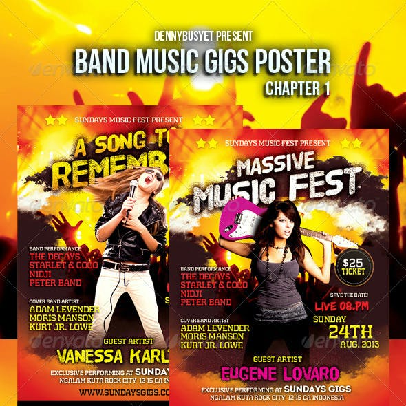 Band Music Gigs Poster Chapter 1