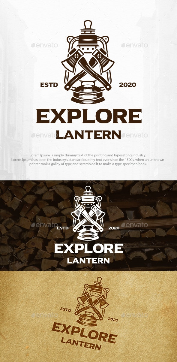 Axe Lantern Logo Template - Objects Logo Templates