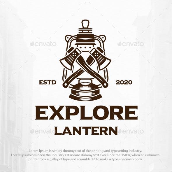 Axe Lantern Logo Template