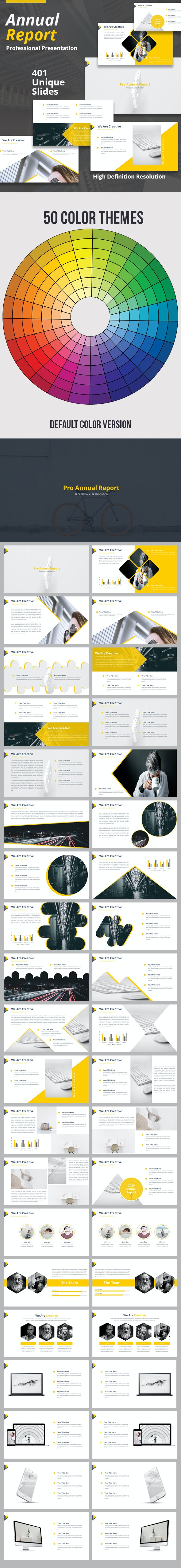 Pro Annual Report Keynote Presentation Template - Business Keynote Templates