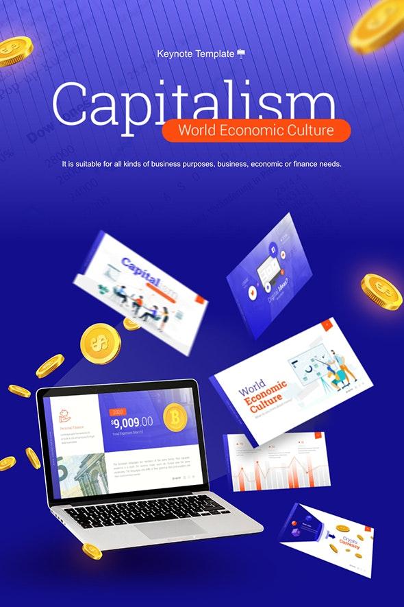 Capitalism World Economic Culture Keynote Presentation Template - Business Keynote Templates