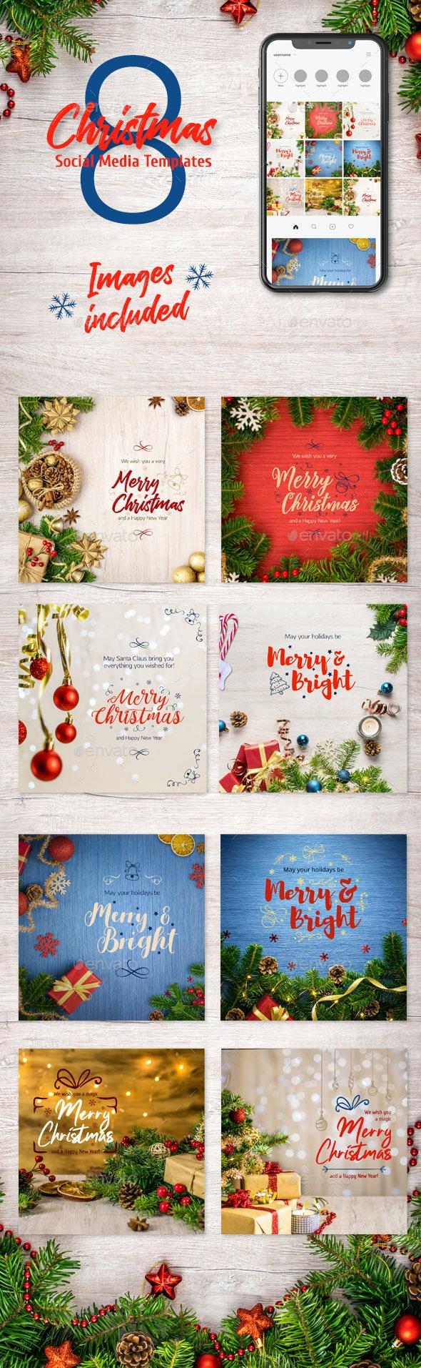 Christmas Social Media Templates - Social Media Web Elements