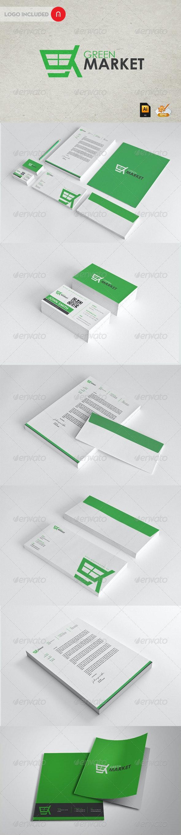 Green Market Corporate Identity - Stationery Print Templates