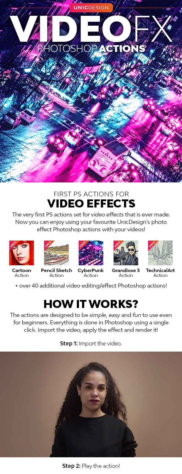VideoFX Photoshop Actions - Photo Effects Actions