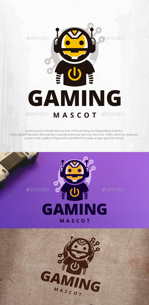 Gaming Robot Logo Template - Humans Logo Templates