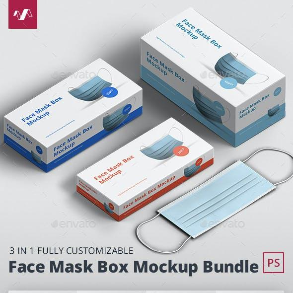 Face Mask Mockup Box Bundle