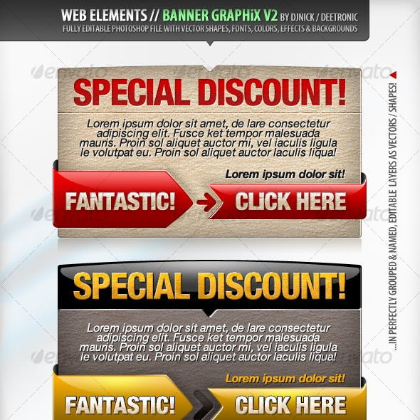 Web Elements - Banners Vector Graphics 2 PSD file