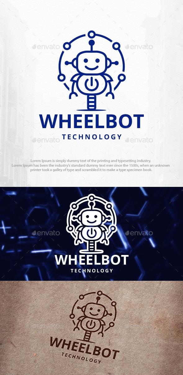 Wheel Robot Power Logo Template - Humans Logo Templates