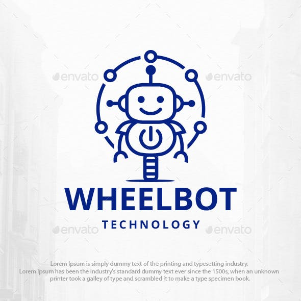 Wheel Robot Power Logo Template