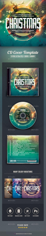 Christmas CD Cover Artwork - CD & DVD Artwork Print Templates