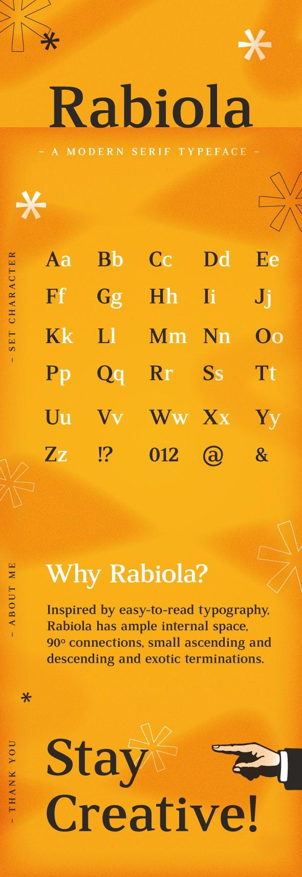 Rabiola New Serif - Serif Fonts