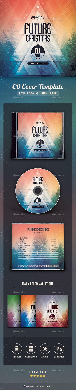 Future Christmas CD Cover Artwork - CD & DVD Artwork Print Templates