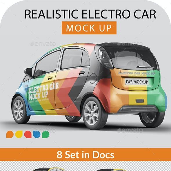 Photorealistic Electro Car Mock Up - 003