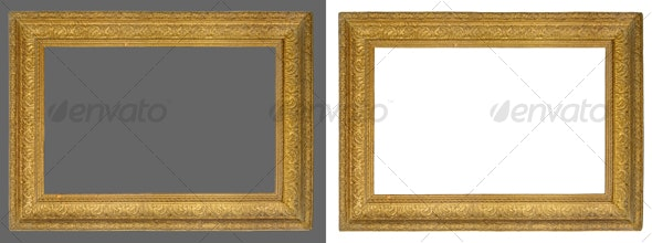 Picture gold frame - Home & Office Isolated Objects