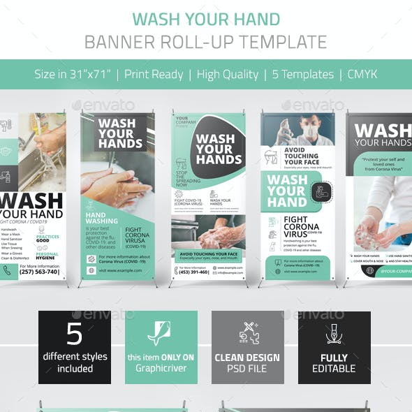Wash Your Hand Banner Vol.1