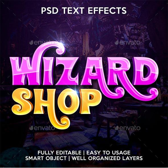 Wizard Shop Text Effect Template
