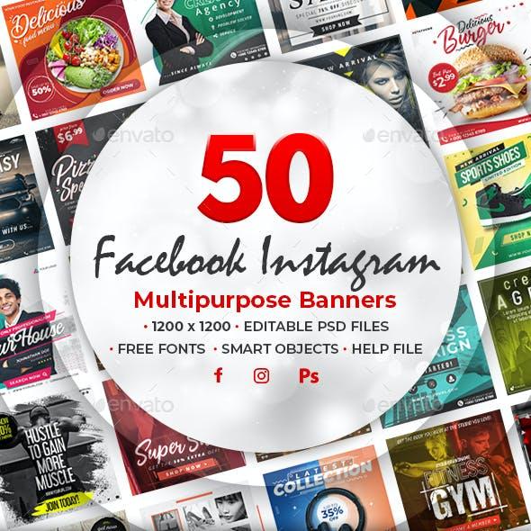 50 Facebook Instagram Banners