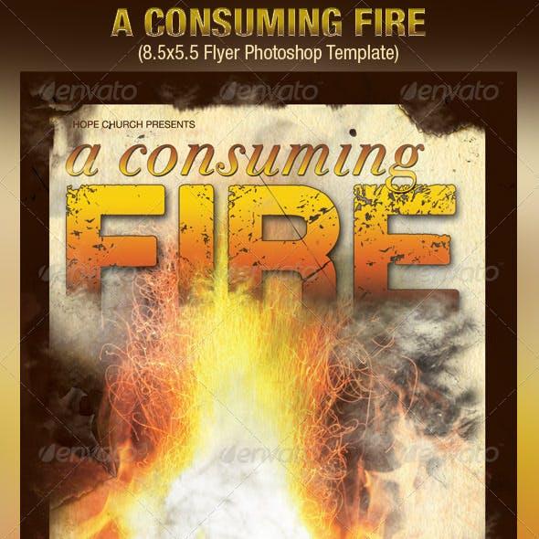 Consuming Fire Church Flyer Template