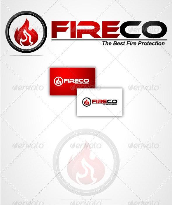 Fire Co Logo Template - Vector Abstract