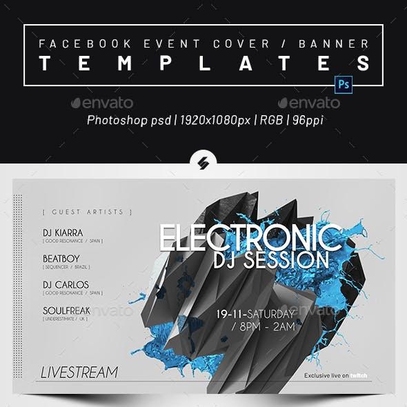 Live Stream DJ Session 3 – Facebook Event Cover Templates