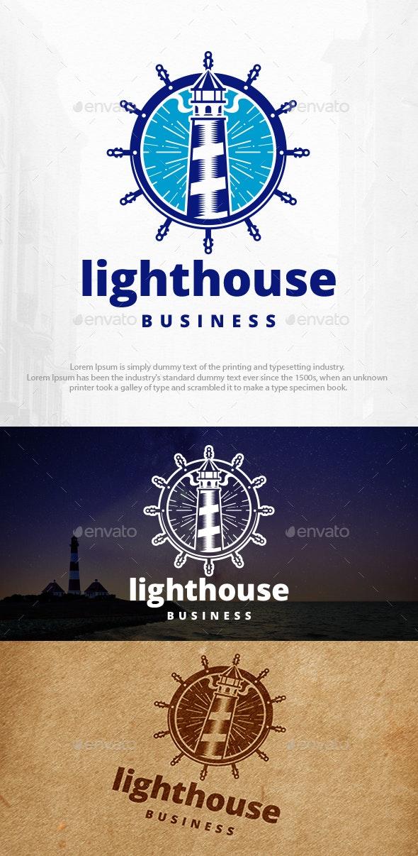 Lighthouse Helm Logo Template - Buildings Logo Templates