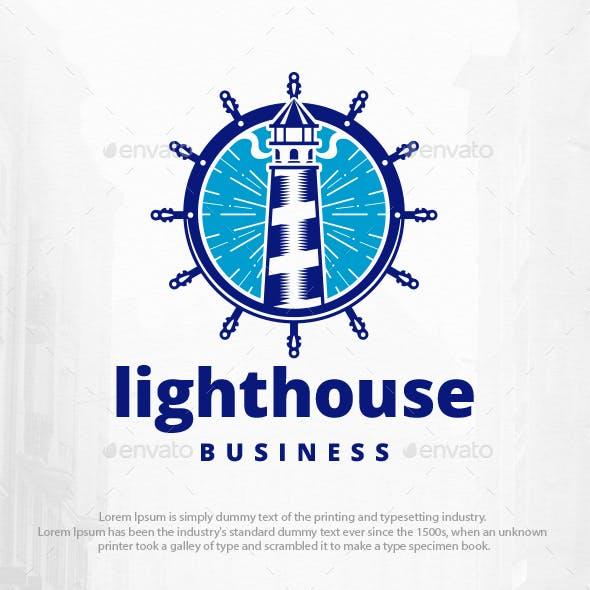 Lighthouse Helm Logo Template