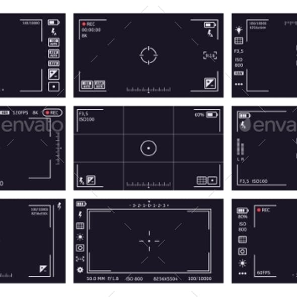 Camcorder Viewfinder Interface Camera Viewfinder