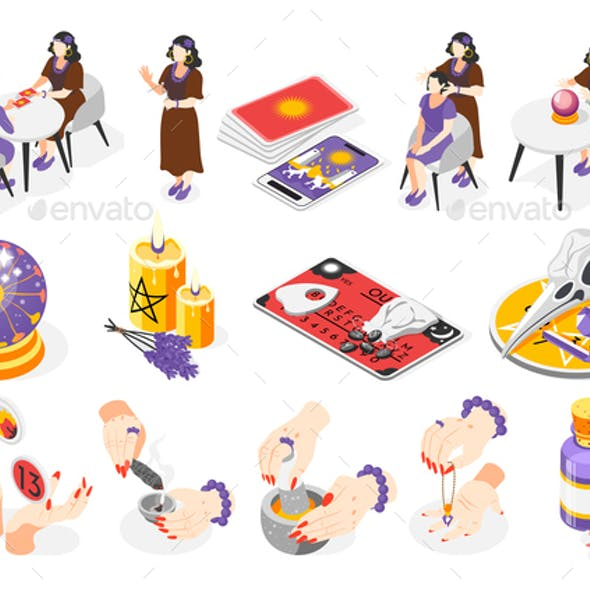 Magical Services Isometric Icons