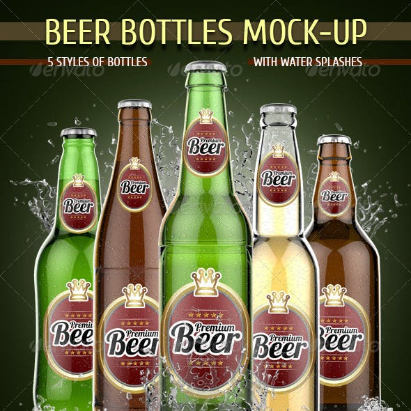 Beer Bottles Mock-Up
