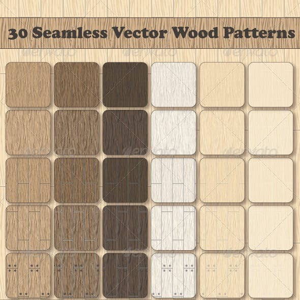 30 Seamless Vector Wood Patterns