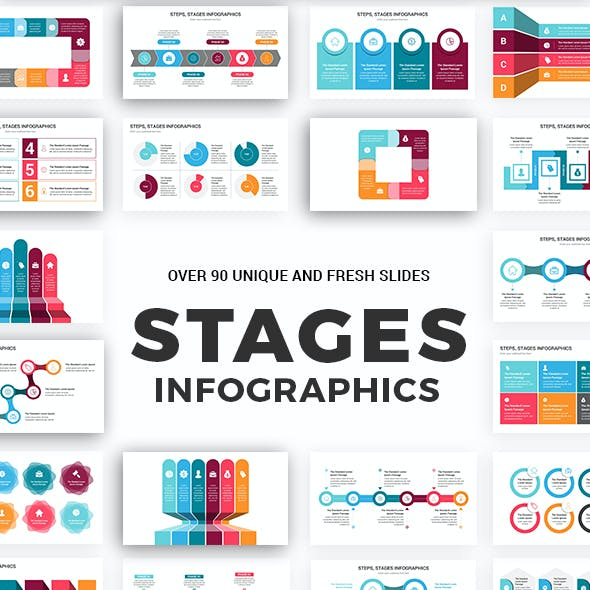 Stages Infographics PowerPoint Template diagrams