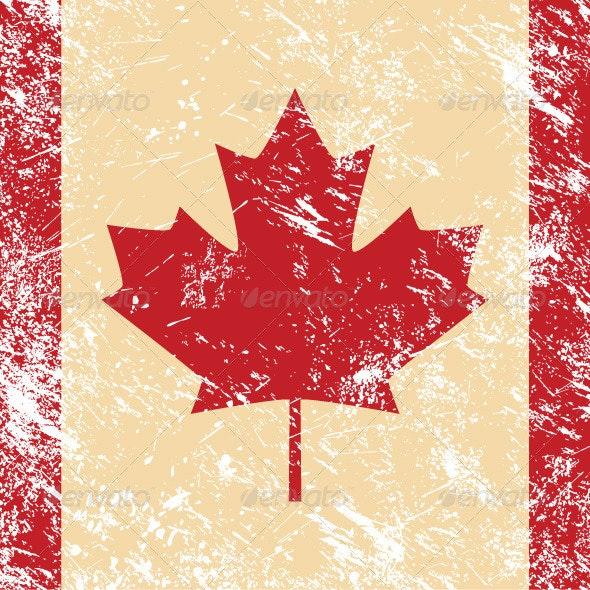 Canada retro flag   - Retro Technology