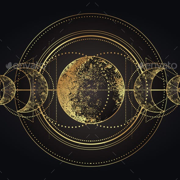 Moon Magic Triple Moon Pagan Wicca Moon Goddess
