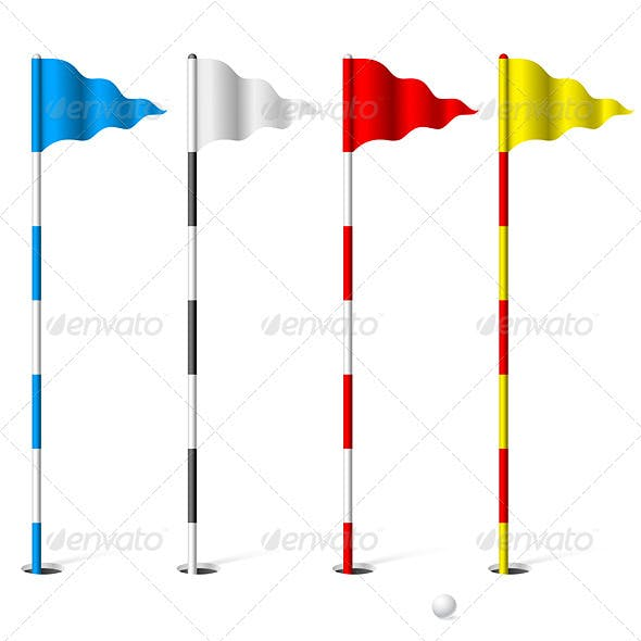 Golf flags