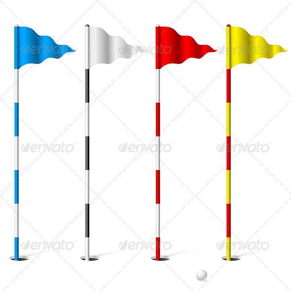 Golf flags - Sports/Activity Conceptual