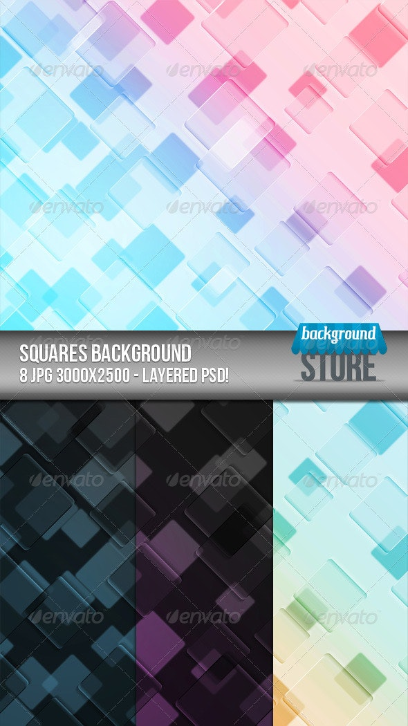 Squares Background - Abstract Backgrounds