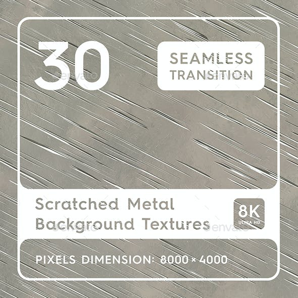30 Scratched Metal Background Textures.