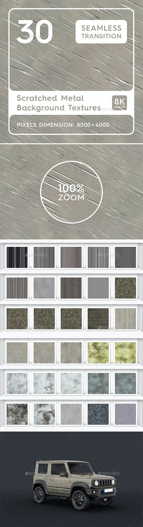 30 Scratched Metal Background Textures. - Tech / Futuristic Backgrounds