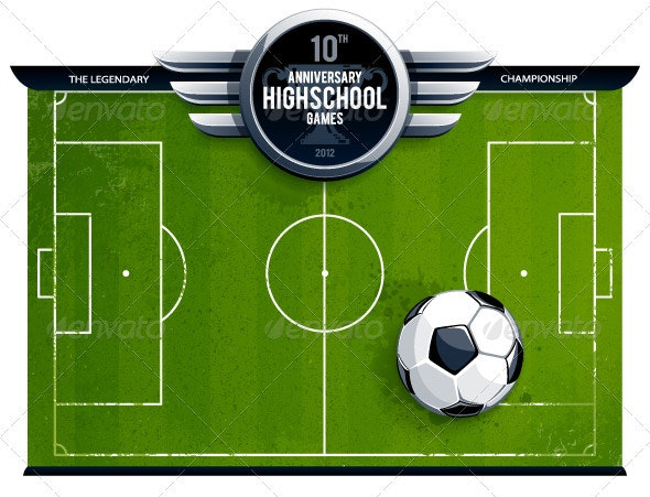 Grunge soccer field - Sports/Activity Conceptual