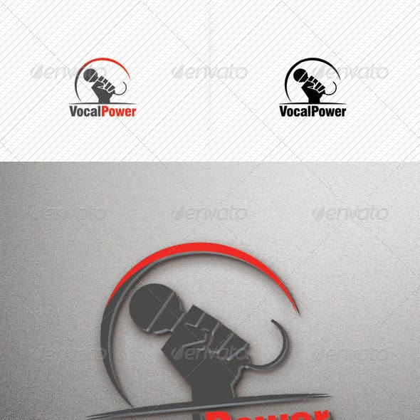 Vocal Power Logo Template